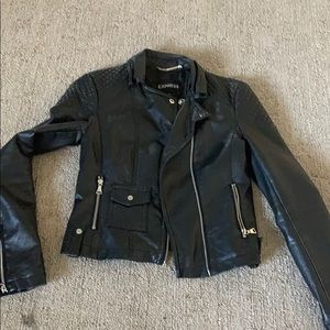 Express Quilted Leather Jacket Size XS